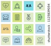 communication icons set with... | Shutterstock .eps vector #1125839054