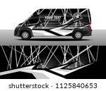 cargo van decal  truck and car... | Shutterstock .eps vector #1125840653