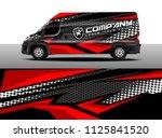 cargo van decal  truck and car... | Shutterstock .eps vector #1125841520