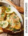 spicy baked trout fillets with... | Shutterstock . vector #1125846020