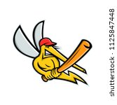 mascot icon illustration of a... | Shutterstock .eps vector #1125847448