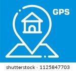 gps vector icon  | Shutterstock .eps vector #1125847703