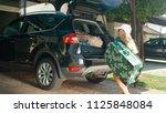 blonde woman having trouble... | Shutterstock . vector #1125848084