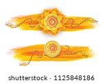 creative raksha bandhan header... | Shutterstock .eps vector #1125848186