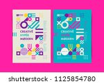 set of flyer templates with... | Shutterstock .eps vector #1125854780