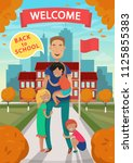 welcome back to school. the... | Shutterstock .eps vector #1125855383