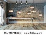 interior design modern lamp ... | Shutterstock . vector #1125861239
