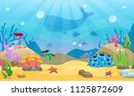 Cartoon Seamless Underwater...