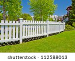county style wooden fence. | Shutterstock . vector #112588013