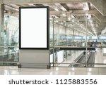 mock up billboard banner... | Shutterstock . vector #1125883556