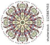 mandala flower decoration  hand ...   Shutterstock .eps vector #1125887453