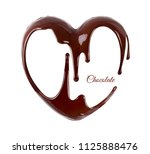chocolate in the form of heart. ... | Shutterstock . vector #1125888476