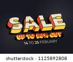three dimensional sale banner...   Shutterstock .eps vector #1125892808
