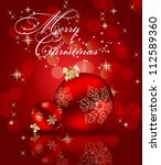 abstract beauty christmas and... | Shutterstock . vector #112589360