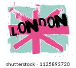 abstract flag of england. the... | Shutterstock .eps vector #1125893720