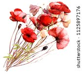Isolated Watercolor Bouquet...
