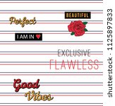 slogan type and patch with red... | Shutterstock .eps vector #1125897833