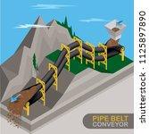 how the pipe belt conveyor... | Shutterstock .eps vector #1125897890
