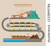 mining industry concept....   Shutterstock .eps vector #1125899786