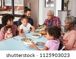 multi generation family... | Shutterstock . vector #1125903023