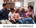 multi generation family... | Shutterstock . vector #1125903119