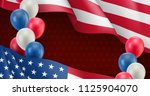 usa country patriotic banner... | Shutterstock .eps vector #1125904070