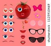 tomato girl emoji maker  smiley ...   Shutterstock .eps vector #1125910469