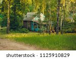 small rural house in a forest | Shutterstock . vector #1125910829