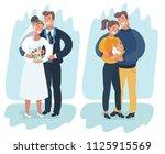 vector cartoon illustration of... | Shutterstock .eps vector #1125915569