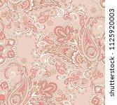 paisley vector seamless pattern.... | Shutterstock .eps vector #1125920003