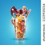 monster shake  freak caramel... | Shutterstock . vector #1125920216