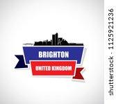 brighton skyline   egnland  ...   Shutterstock .eps vector #1125921236