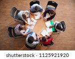 overhead shot of high school... | Shutterstock . vector #1125921920