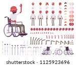 male black wheelchair user... | Shutterstock .eps vector #1125923696