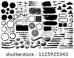 set of abstract grungy brush... | Shutterstock .eps vector #1125925343