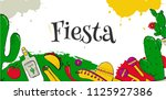 fiesta and latin theme of... | Shutterstock .eps vector #1125927386