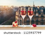 paris luxury lifestyle. pink... | Shutterstock . vector #1125937799