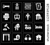 set of 16 icons such as health...
