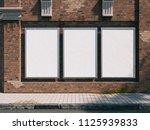 3d illustration. outdoor frame... | Shutterstock . vector #1125939833