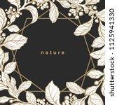 botanical nature invitation... | Shutterstock .eps vector #1125941330