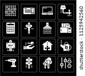 set of 16 icons such as fader ...