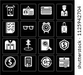 set of 16 icons such as wall...