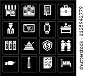 set of 16 icons such as packing ...