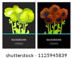 green and red flowers design | Shutterstock .eps vector #1125945839