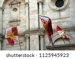 at pienza   italy   on 8 30... | Shutterstock . vector #1125945923