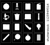 set of 16 icons such as pencils ...