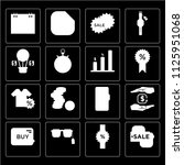 set of 16 icons such as sale...
