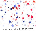 usa president day stars flying... | Shutterstock .eps vector #1125952670