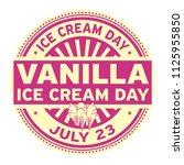vanilla ice cream day   july 23 ... | Shutterstock .eps vector #1125955850