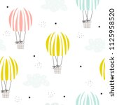 cute seamless pattern with... | Shutterstock .eps vector #1125958520